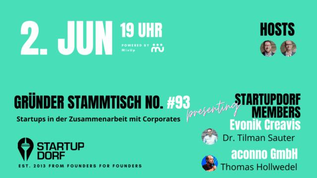 Gründerstammtisch No. 93 Flyer