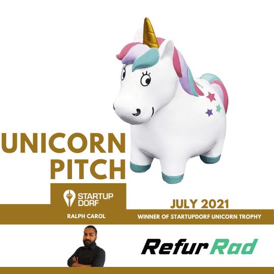 Unicorn Pitch Winner July - Refur Rad, Ralph Carol